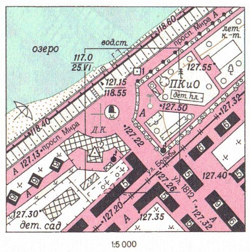 Масштаб плана 1:5000