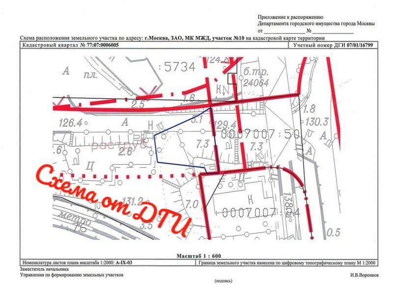 Схема расположения в Москве